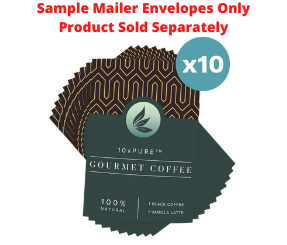 10xPURE™ Coffee Sample Mailers - 10 Count